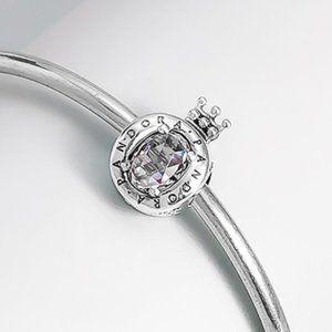 📿Pandora Clear Sparkling Crown O Charm